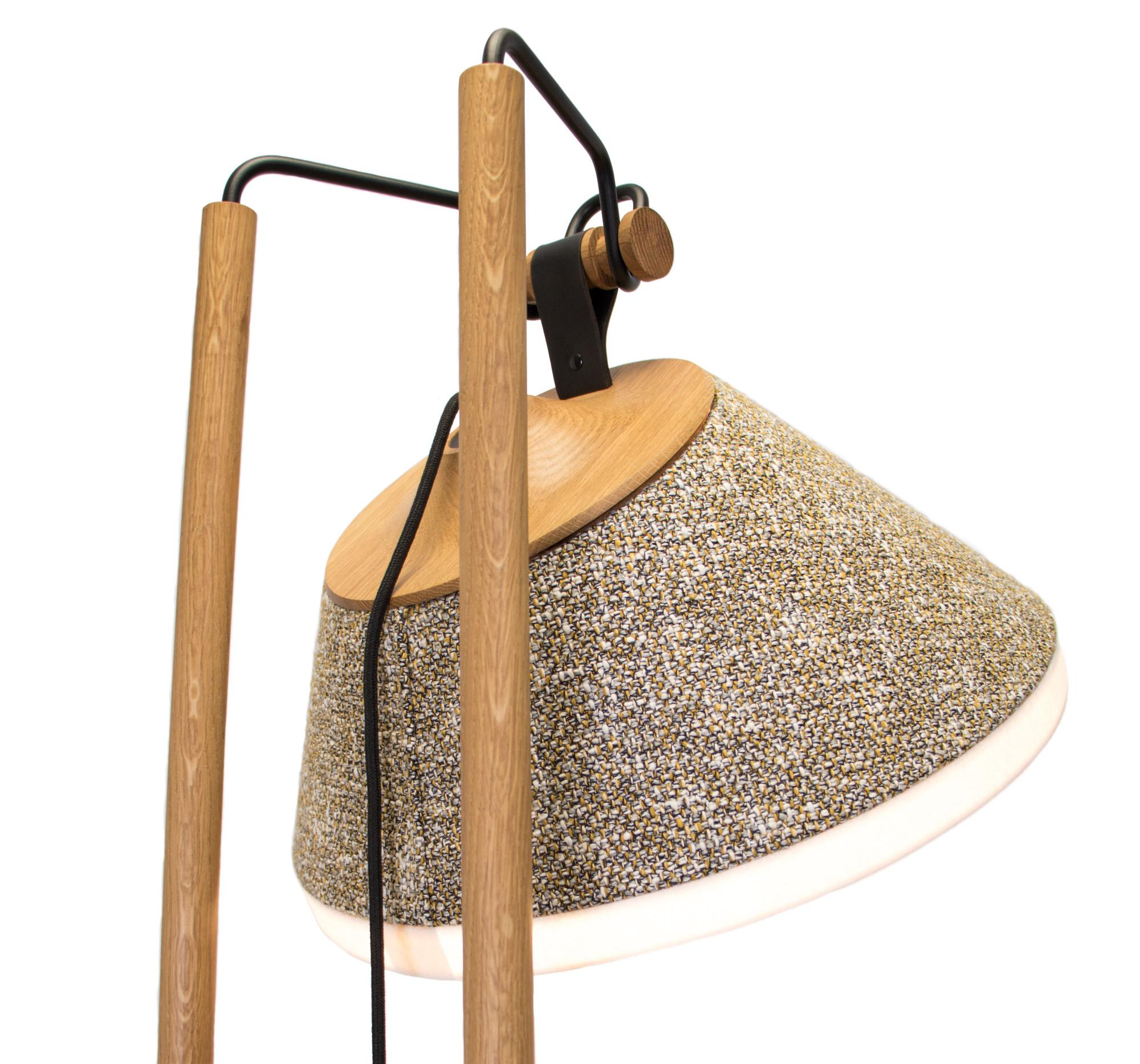 zoom lampadaire tweed Casamance